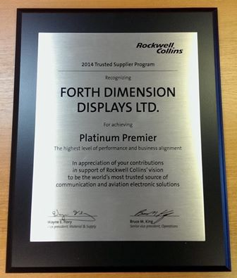 Rockwell Collins Platinum Supplier Status